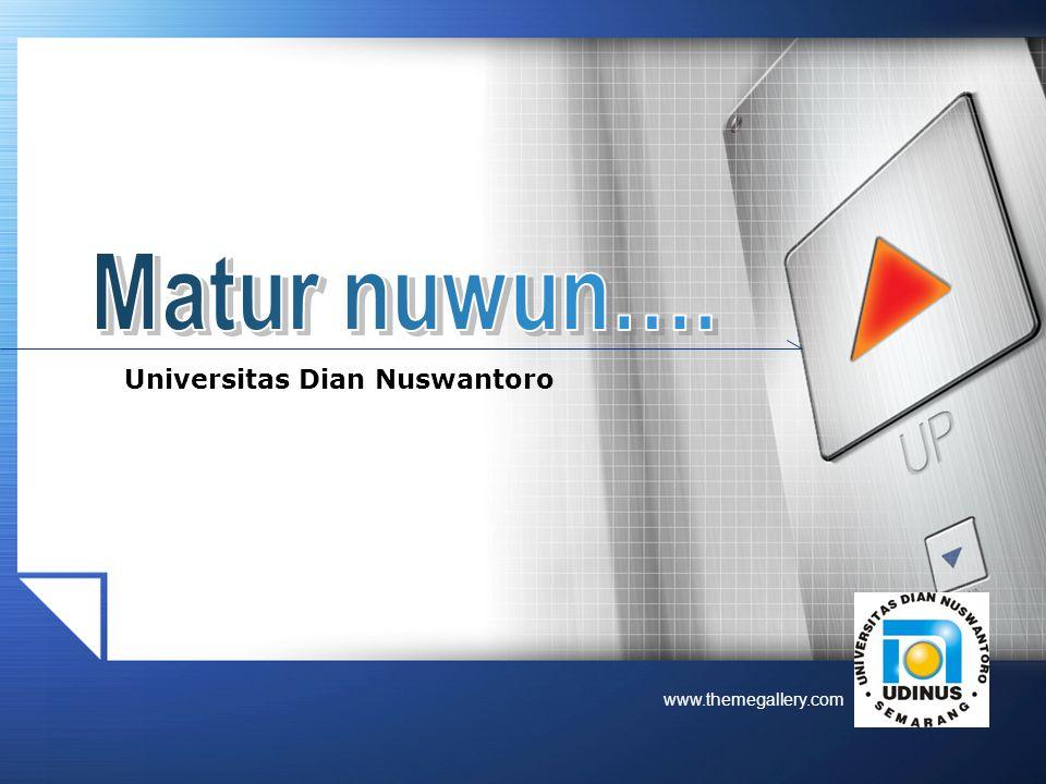 Matur nuwun…. Universitas Dian Nuswantoro