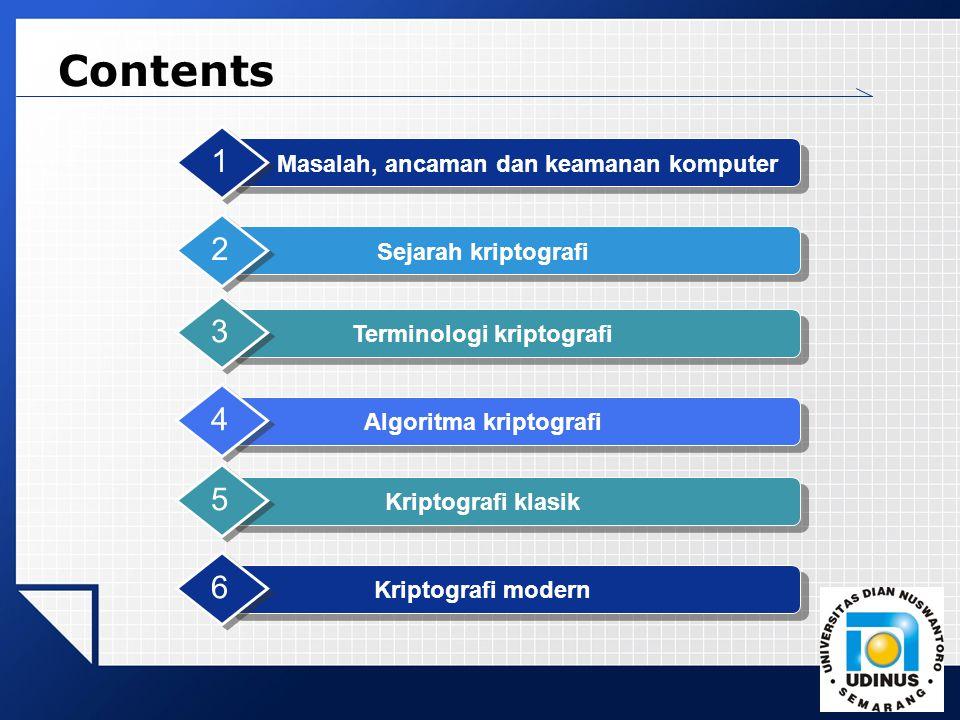 Contents 1 2 3 4 5 6 Masalah, ancaman dan keamanan komputer