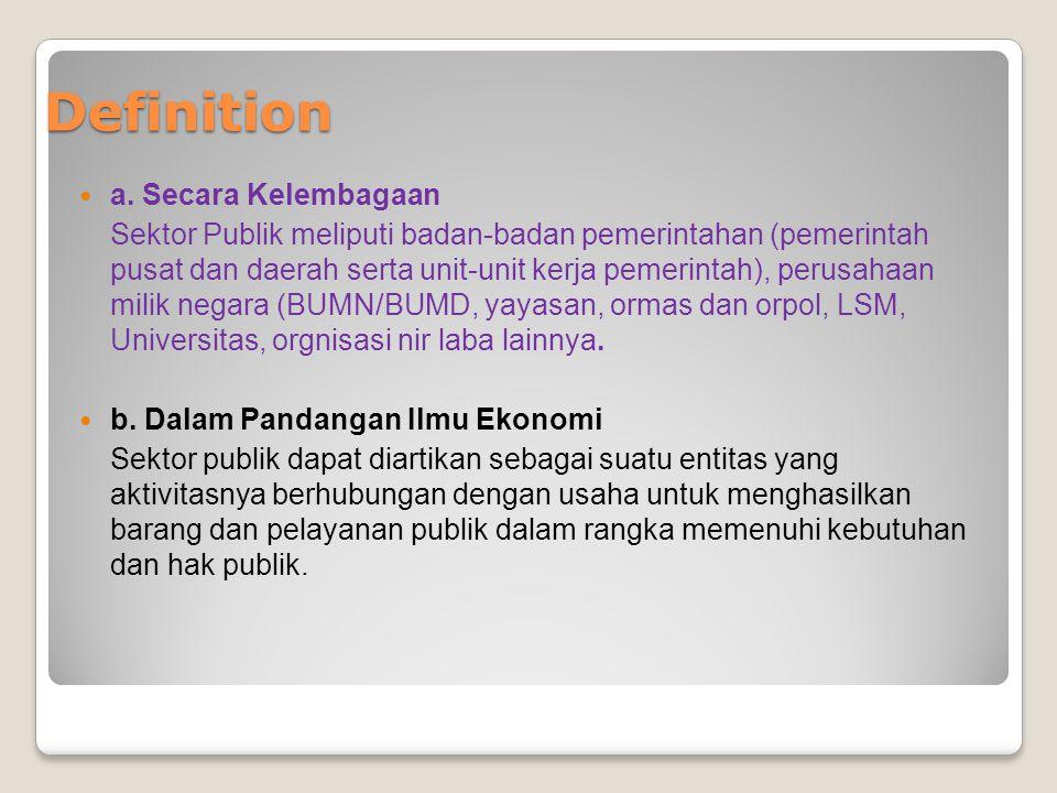 Definition a. Secara Kelembagaan