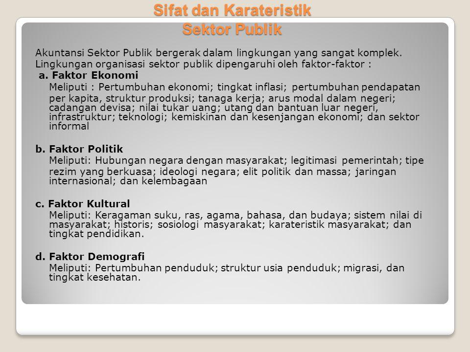 Sifat dan Karateristik Sektor Publik