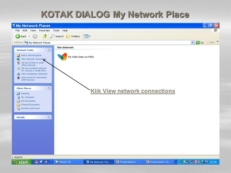 KOTAK DIALOG My Network Place