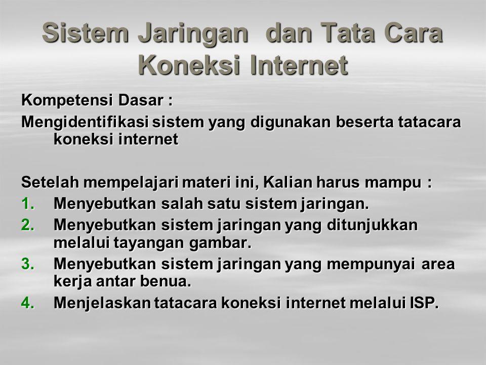 Sistem Jaringan dan Tata Cara Koneksi Internet