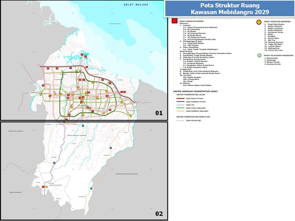 Peta Struktur Ruang Kawasan Mebidangro 2029
