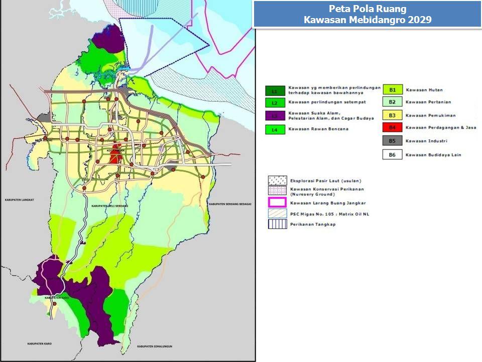 Peta Pola Ruang Kawasan Mebidangro 2029