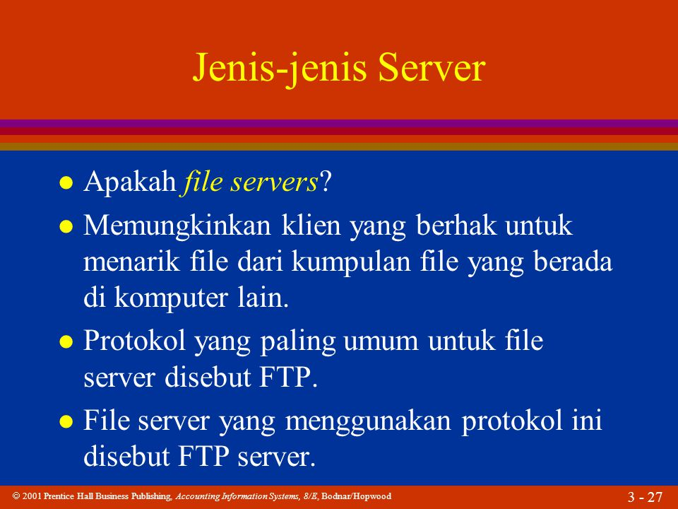 Jenis-jenis Server Apakah file servers