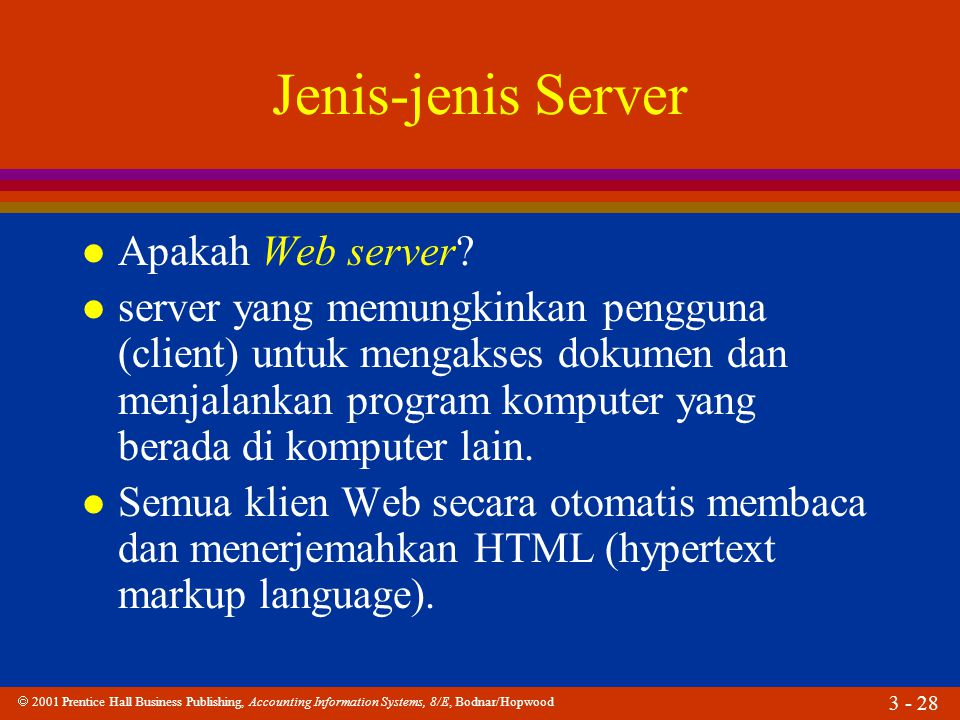 Jenis-jenis Server Apakah Web server
