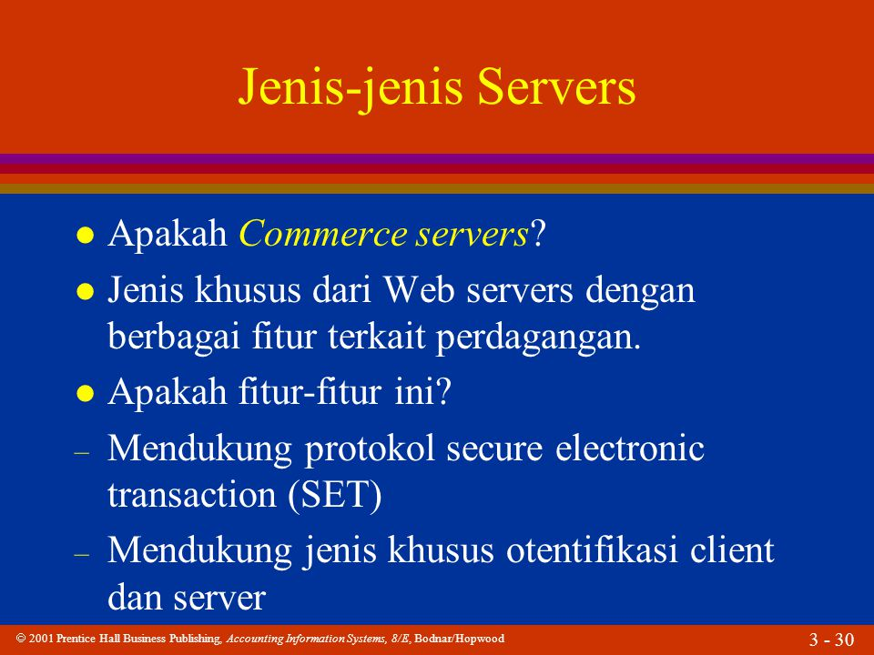 Jenis-jenis Servers Apakah Commerce servers