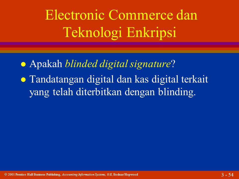Electronic Commerce dan Teknologi Enkripsi