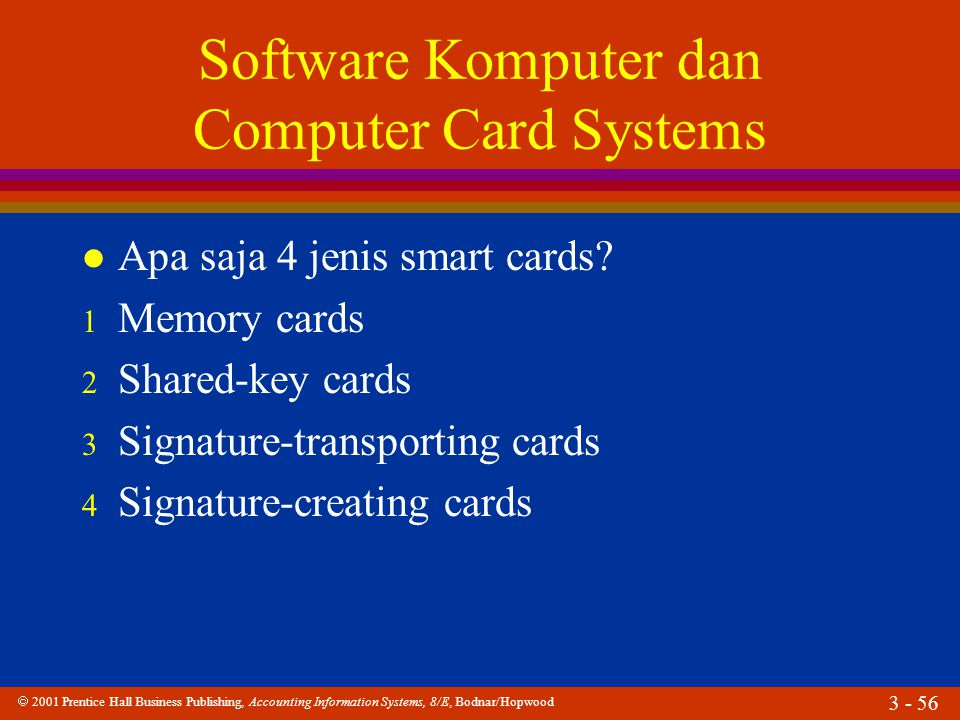Software Komputer dan Computer Card Systems