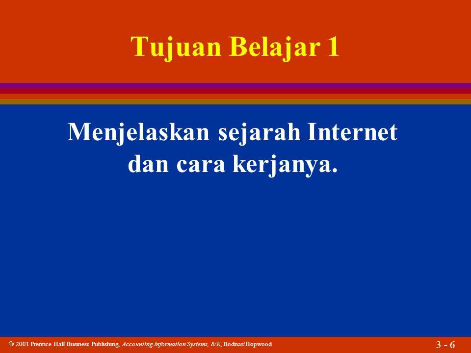 Menjelaskan sejarah Internet dan cara kerjanya.
