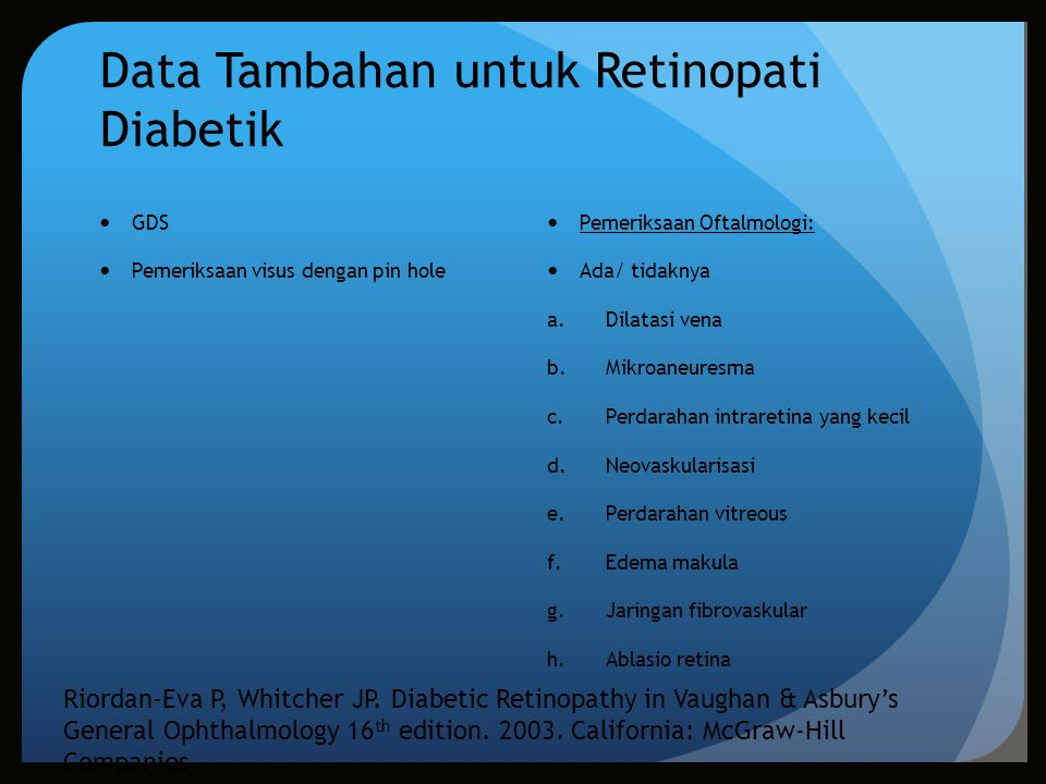 Data Tambahan untuk Retinopati Diabetik