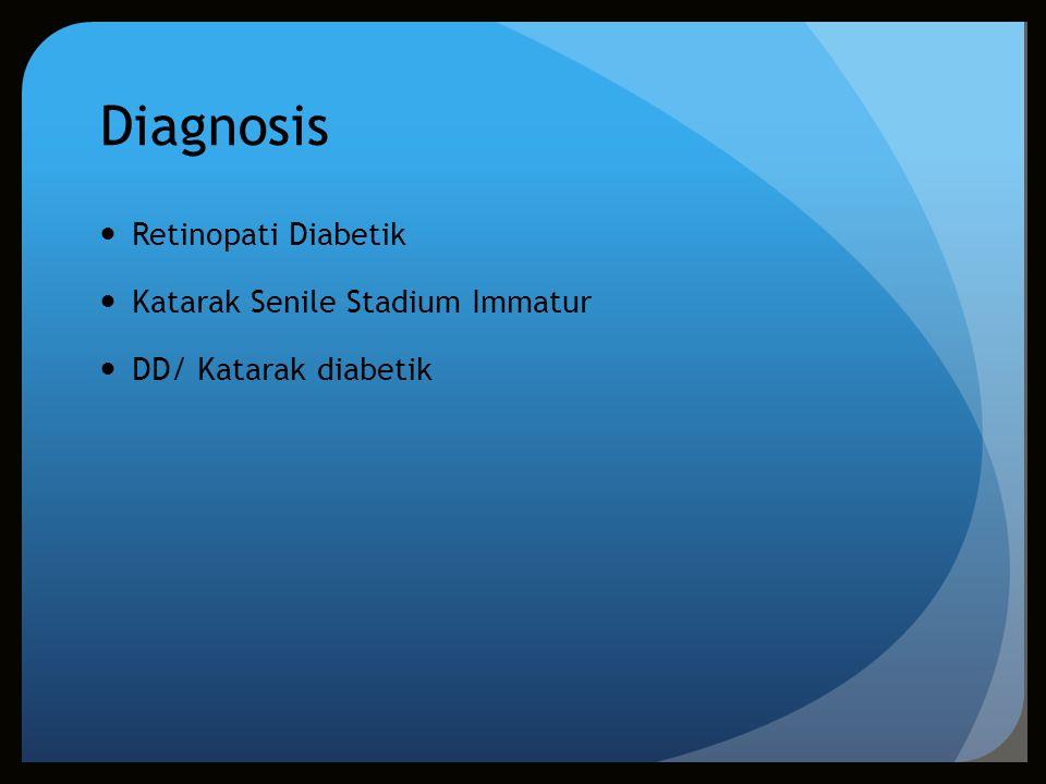 Diagnosis Retinopati Diabetik Katarak Senile Stadium Immatur