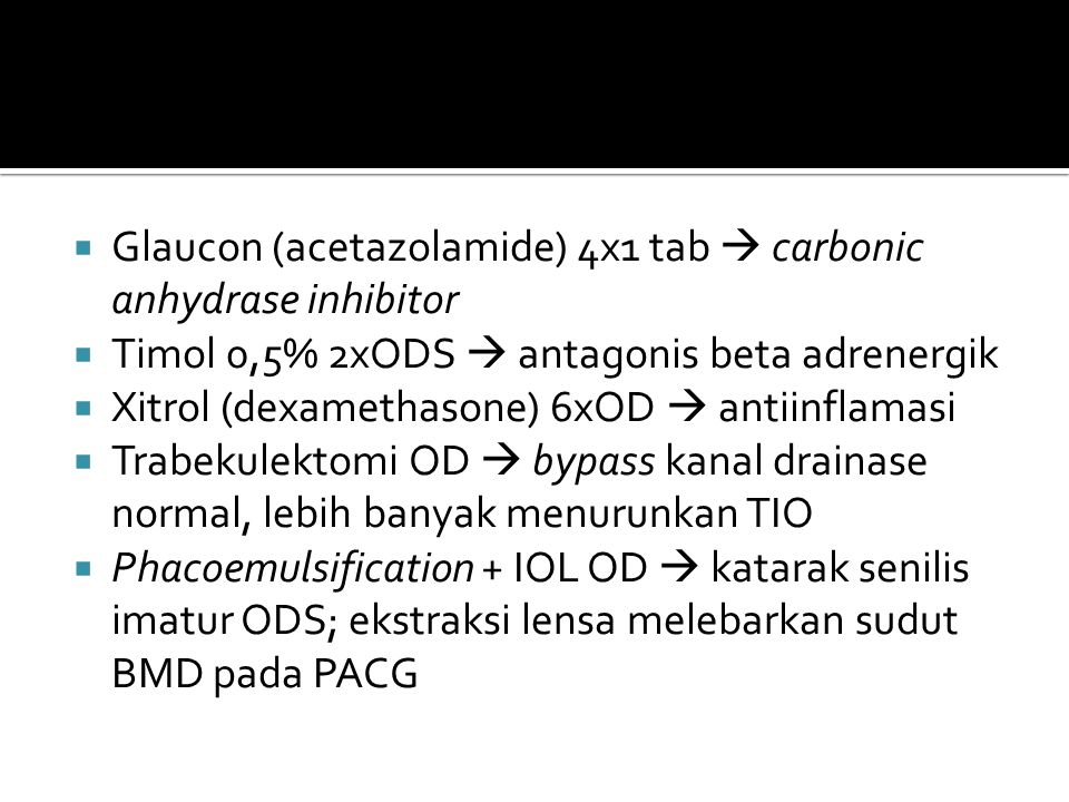 Glaucon (acetazolamide) 4x1 tab  carbonic anhydrase inhibitor