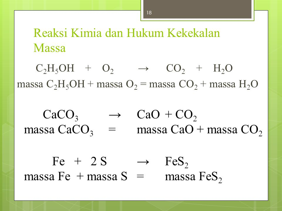 Reaksi Kimia dan Hukum Kekekalan Massa