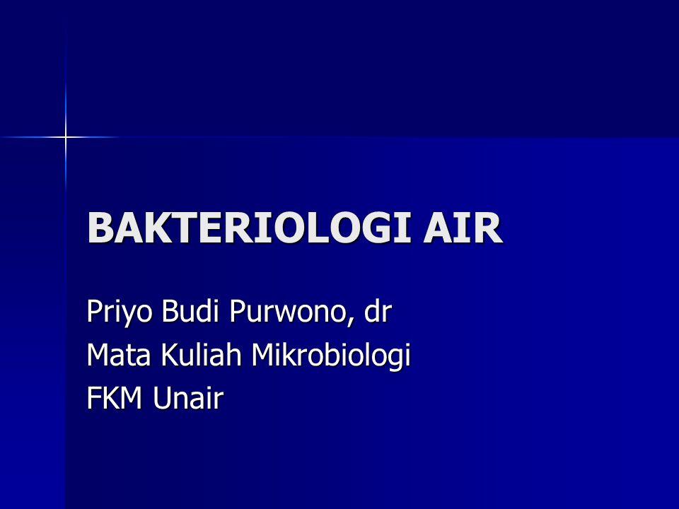 Priyo Budi Purwono, dr Mata Kuliah Mikrobiologi FKM Unair