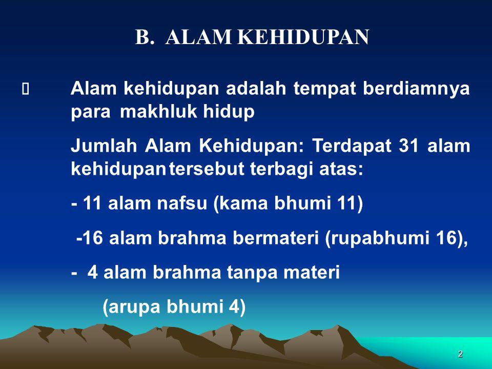 B. ALAM KEHIDUPAN Ø Alam kehidupan adalah tempat berdiamnya para makhluk hidup.