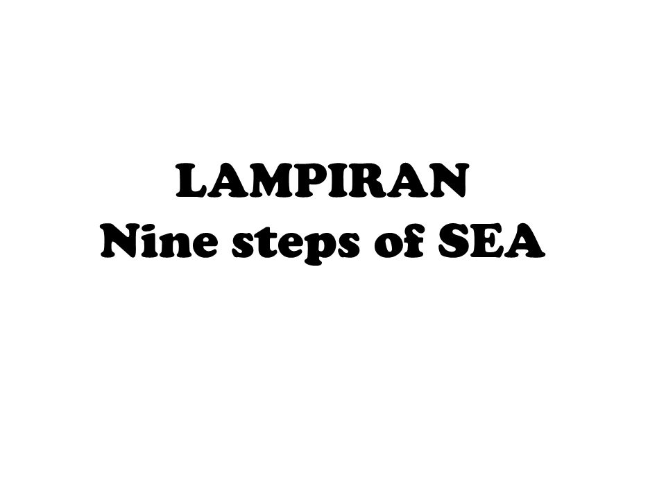LAMPIRAN Nine steps of SEA