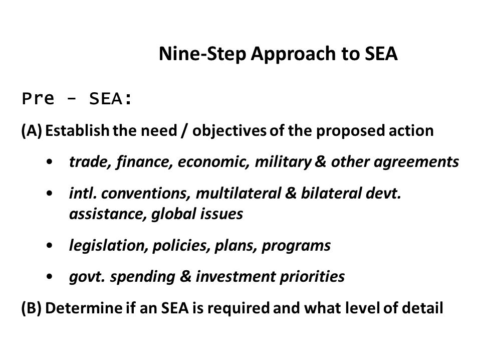 Nine-Step Approach to SEA