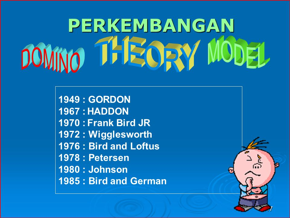 PERKEMBANGAN : GORDON 1967 : HADDON 1970 : Frank Bird JR