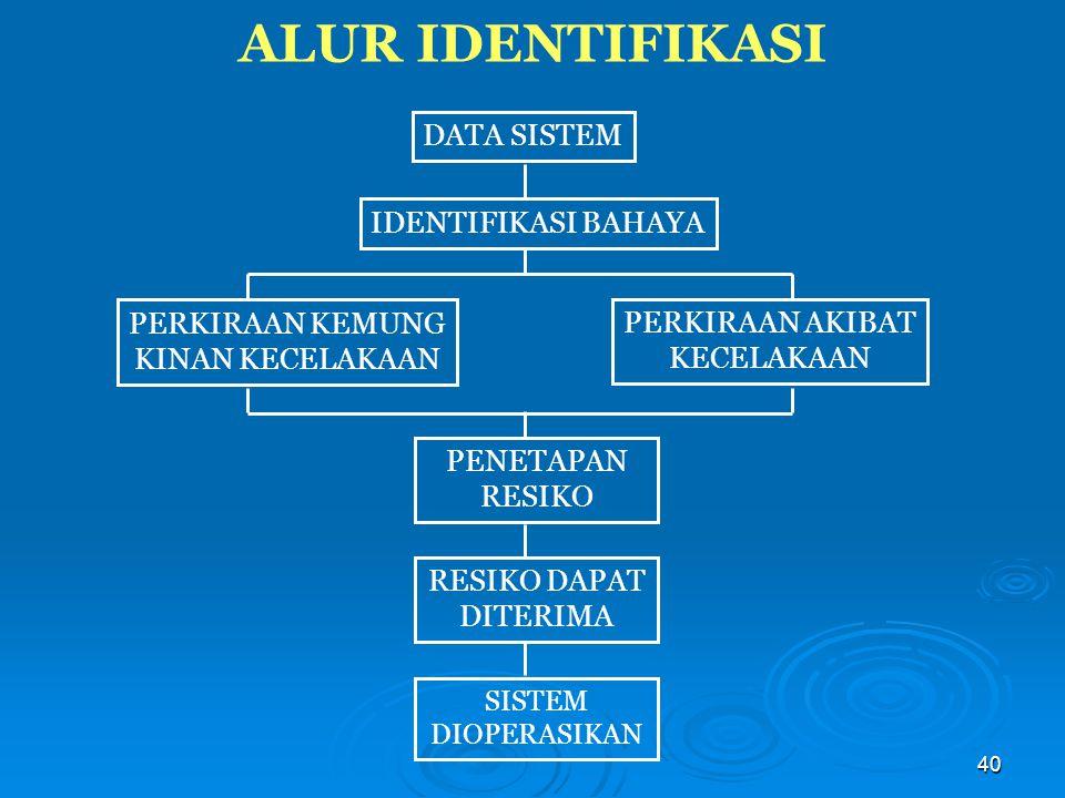 ALUR IDENTIFIKASI DATA SISTEM IDENTIFIKASI BAHAYA PERKIRAAN KEMUNG