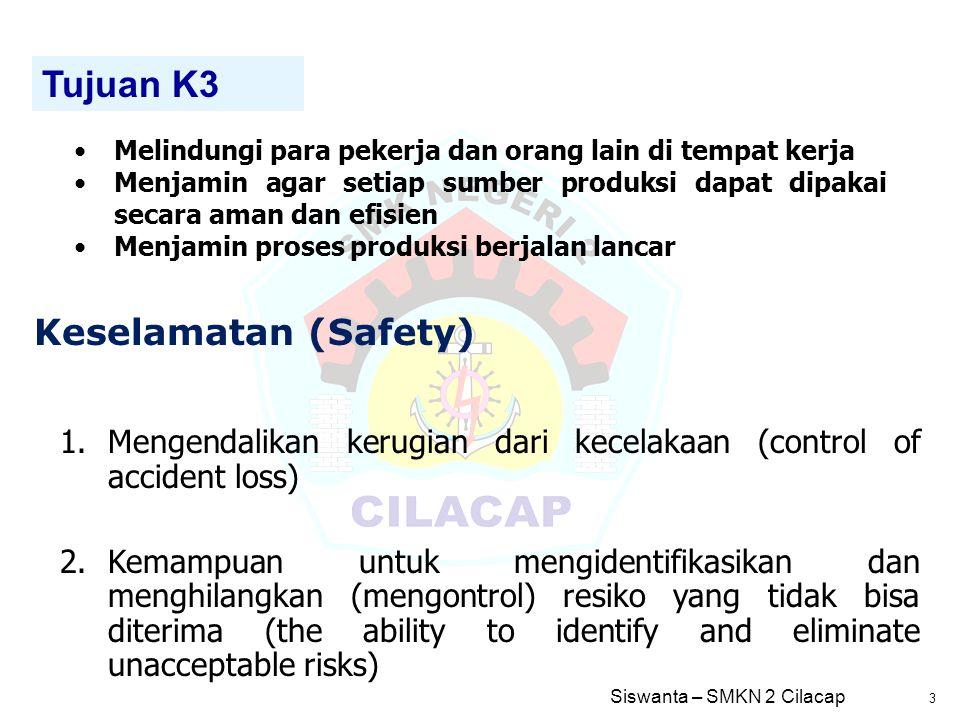 Tujuan K3 Keselamatan (Safety)