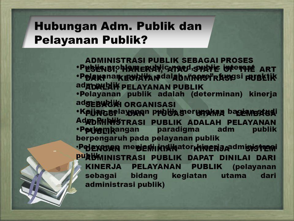 Hubungan Adm. Publik dan Pelayanan Publik