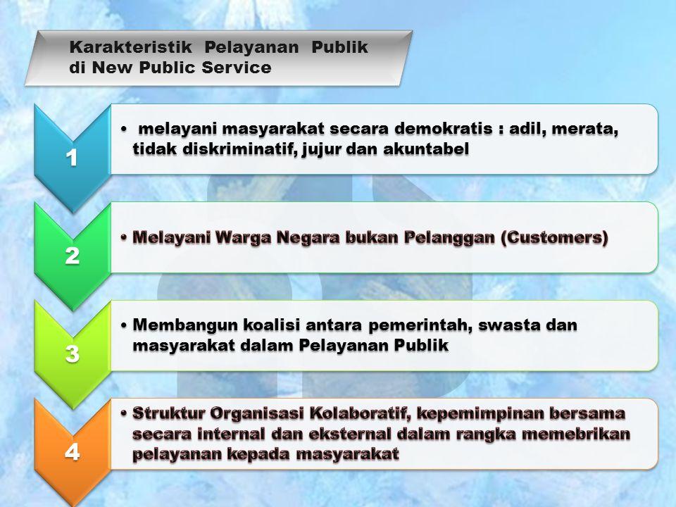 Karakteristik Pelayanan Publik di New Public Service