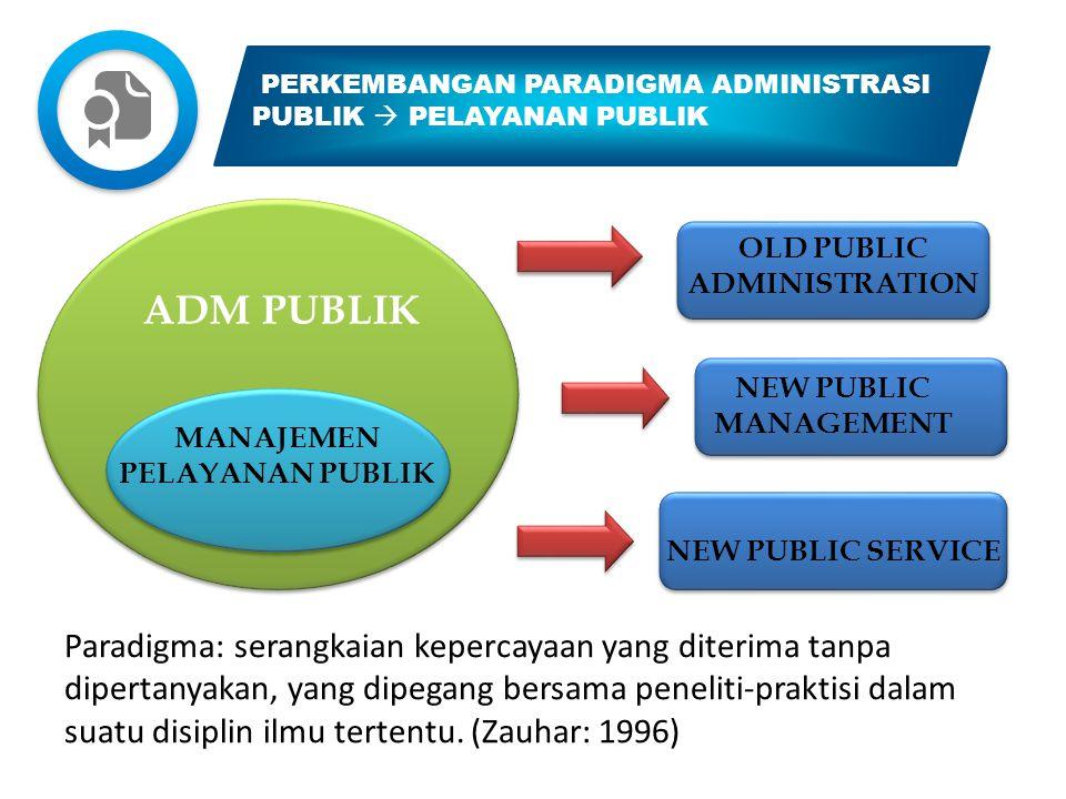 OLD PUBLIC ADMINISTRATION MANAJEMEN PELAYANAN PUBLIK