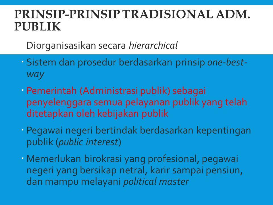 Prinsip-prinsip tradisional Adm. Publik