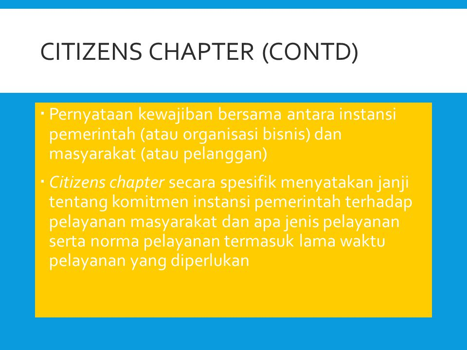 Citizens Chapter (contd)