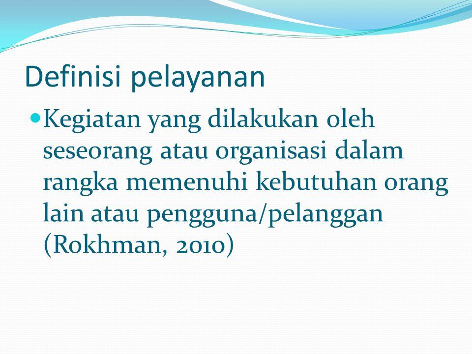 Definisi pelayanan
