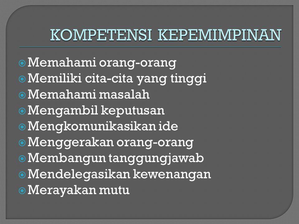KOMPETENSI KEPEMIMPINAN