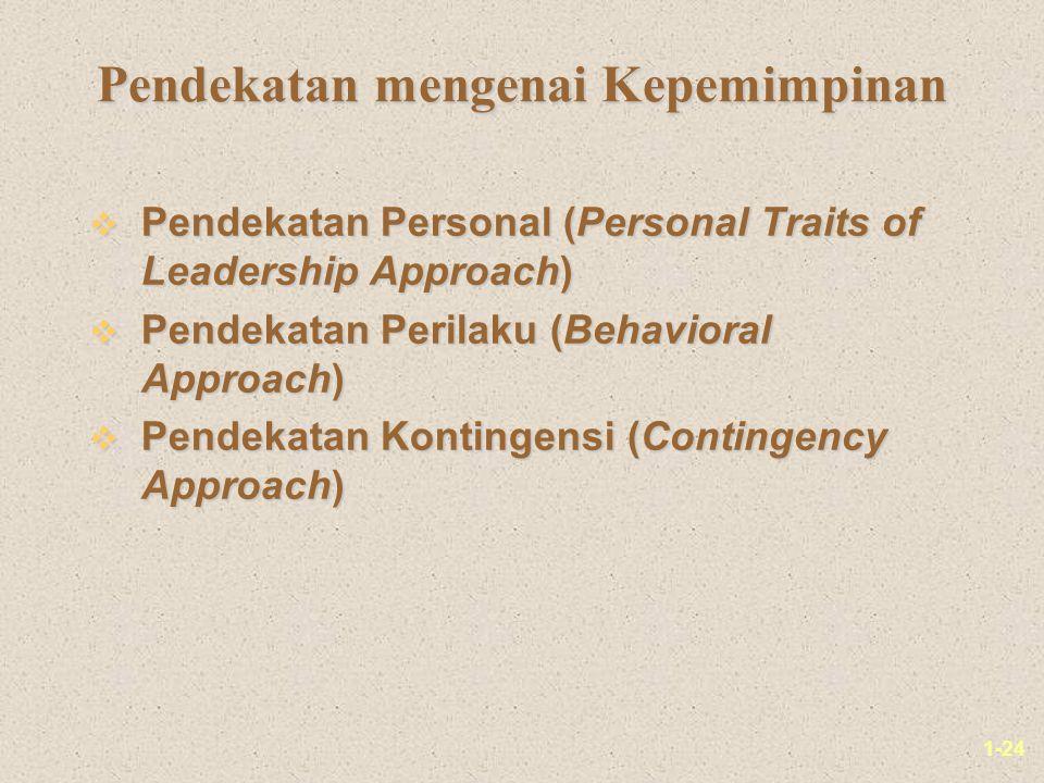 Pendekatan mengenai Kepemimpinan