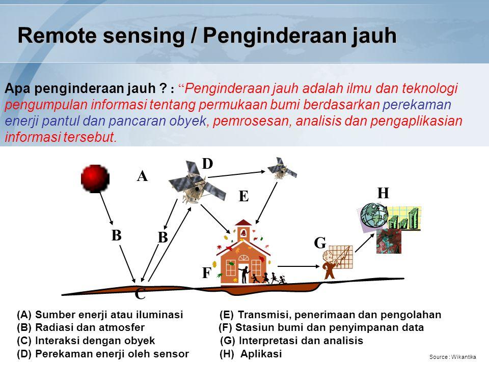 Remote sensing / Penginderaan jauh