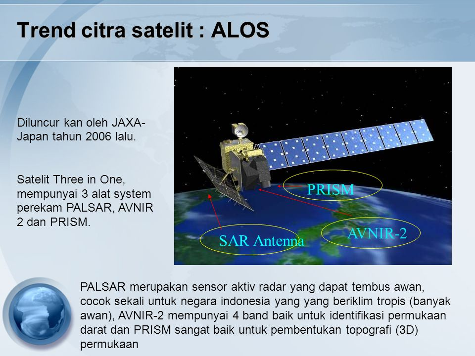 Trend citra satelit : ALOS