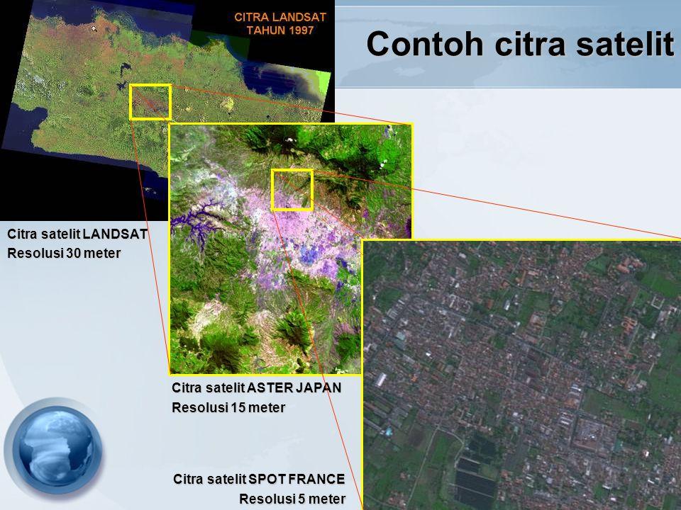 Contoh citra satelit Citra satelit LANDSAT Resolusi 30 meter