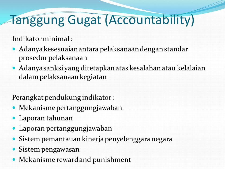 Tanggung Gugat (Accountability)