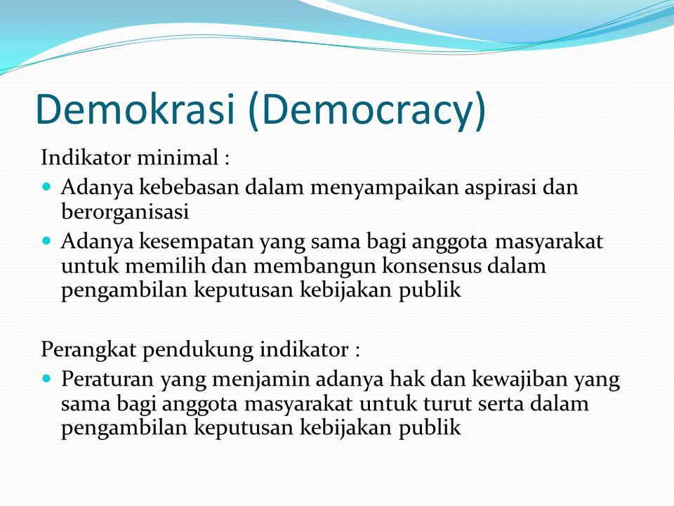 Demokrasi (Democracy)