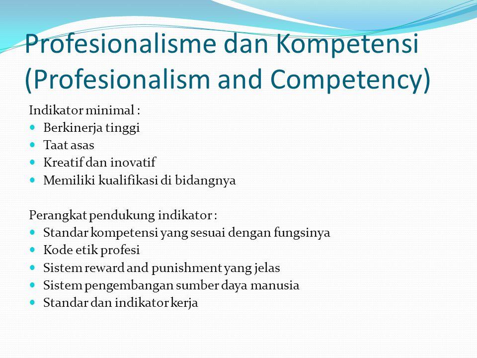 Profesionalisme dan Kompetensi (Profesionalism and Competency)