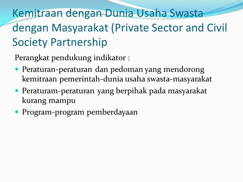 Kemitraan dengan Dunia Usaha Swasta dengan Masyarakat (Private Sector and Civil Society Partnership