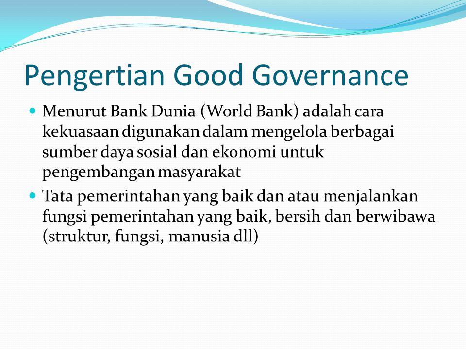 Pengertian Good Governance