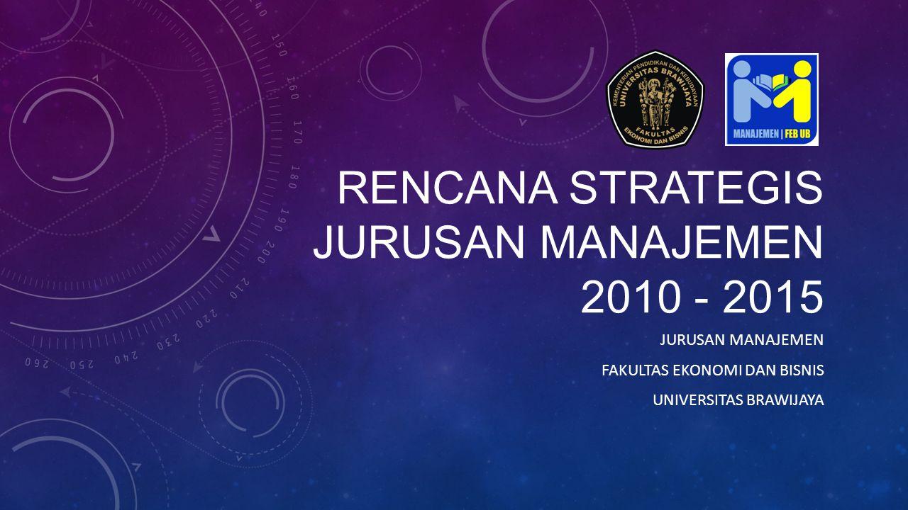 RENCANA STRATEGIS JURUSAN MANAJEMEN 2010 - 2015