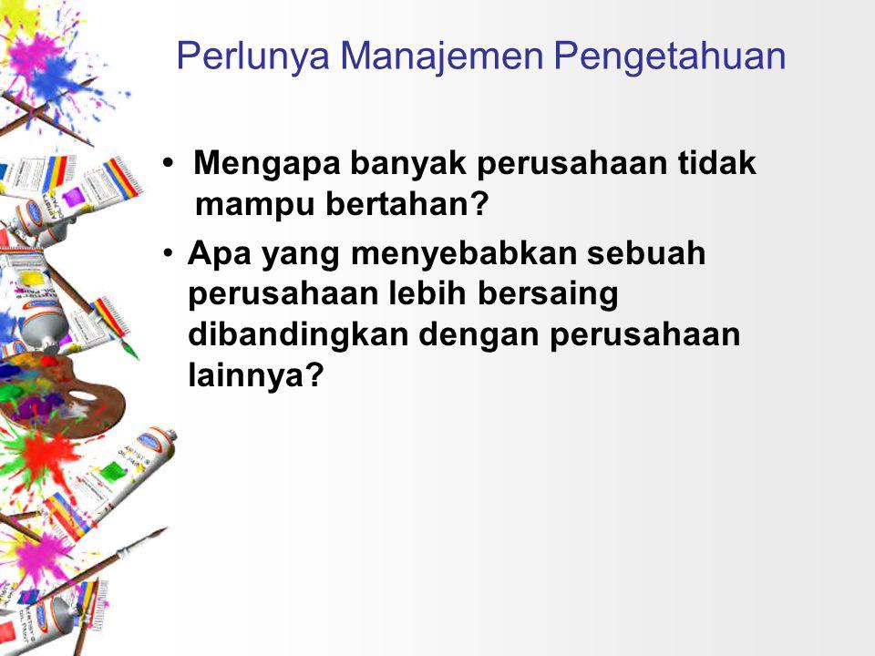 Perlunya Manajemen Pengetahuan