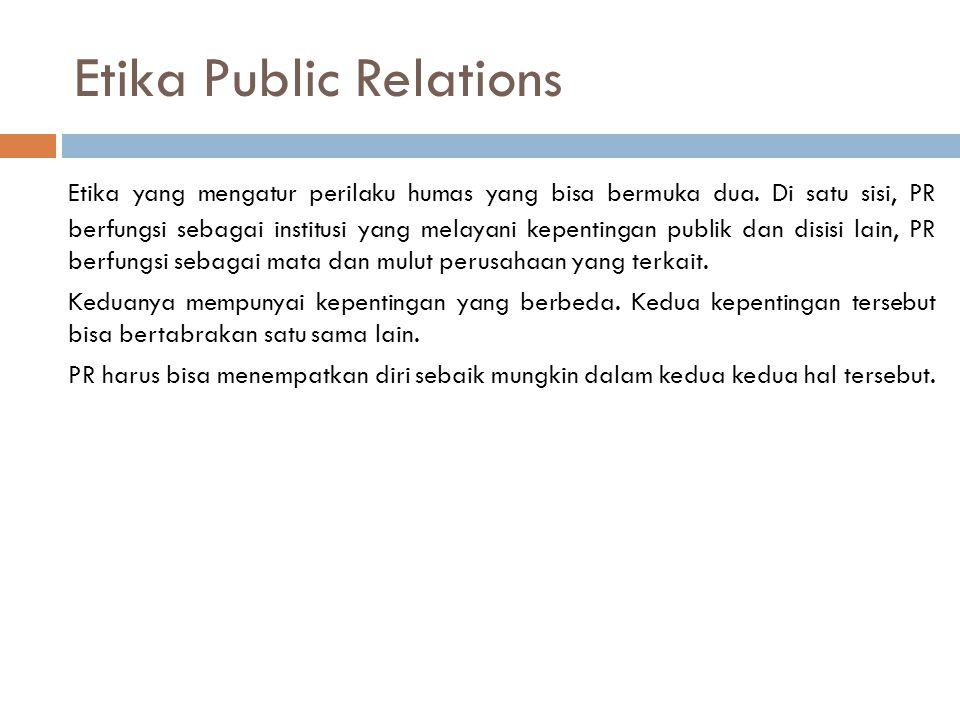 Etika Public Relations