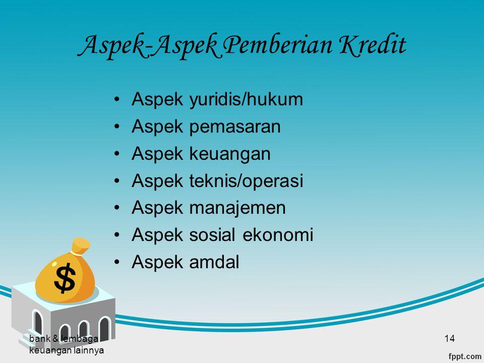 Aspek-Aspek Pemberian Kredit