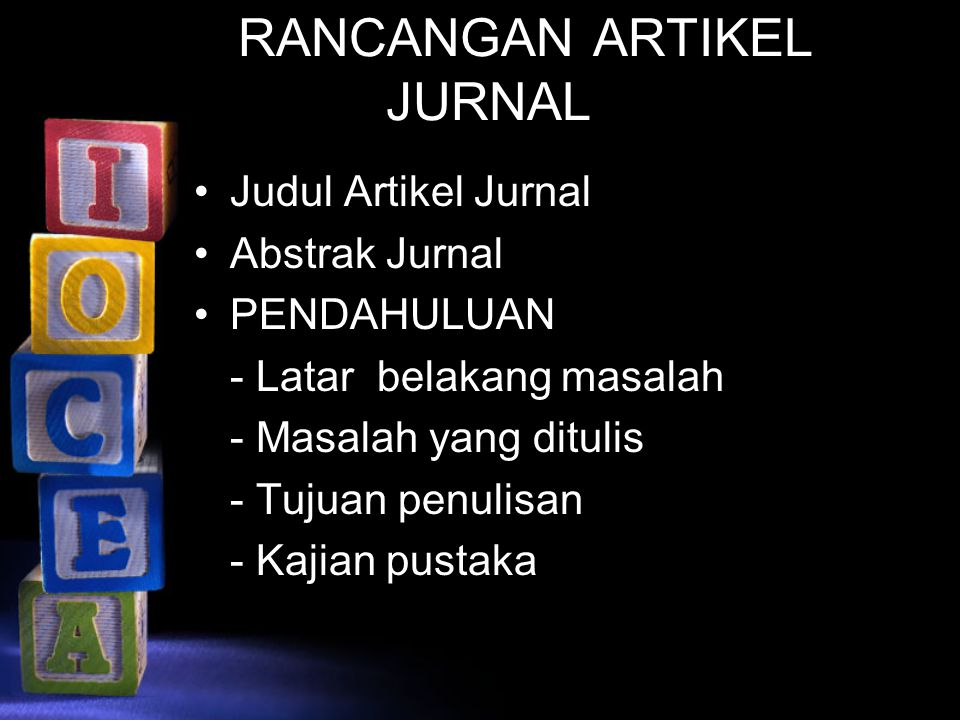 RANCANGAN ARTIKEL JURNAL
