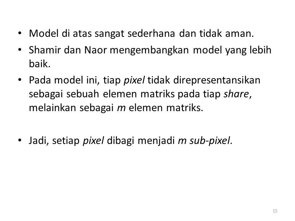 Model di atas sangat sederhana dan tidak aman.
