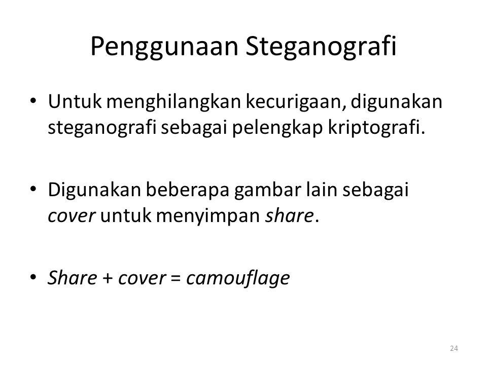 Penggunaan Steganografi