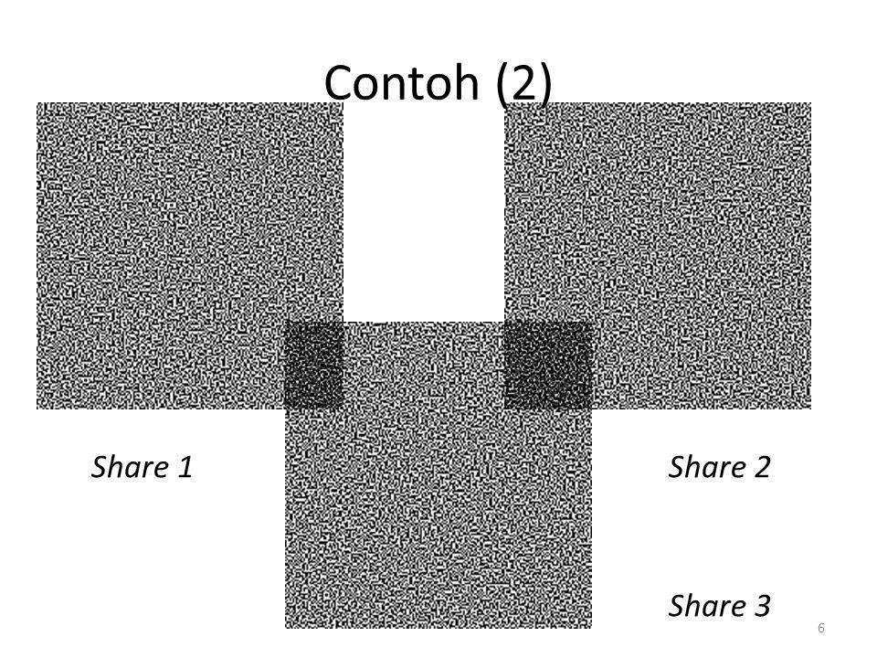 Contoh (2) Share 1 Share 2 Share 3