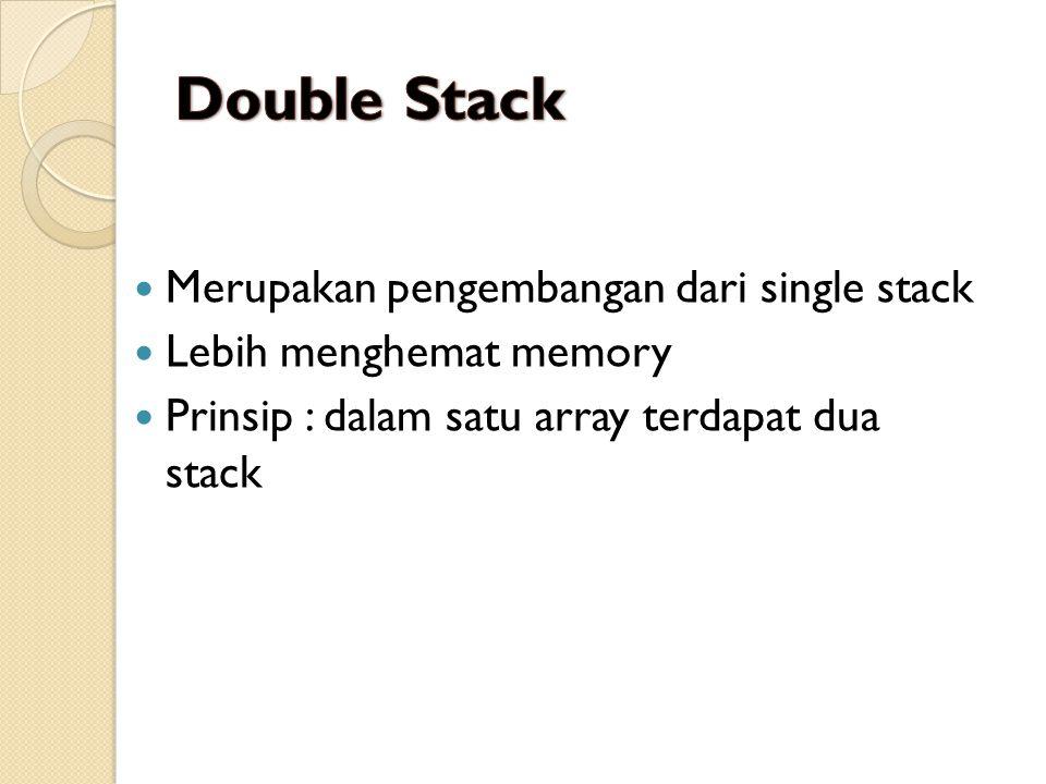 Double Stack Merupakan pengembangan dari single stack